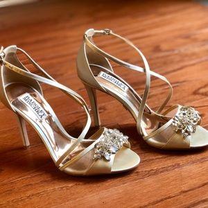 New Badgley Mischka Gala Crystal Evening Sandal
